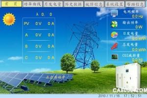 WEINVIEW觸摸屏在太陽能光伏并網逆變器中的應用