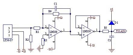 利用lt58-s7分别设计了直流电流检测电路和交流电流