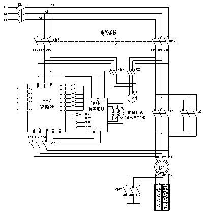 plc控制绞车电路图