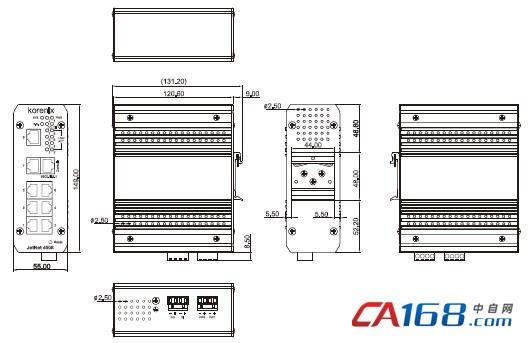 8口网管型工业以太网交换机