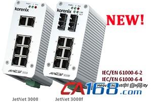 Korenix JetNet 3008系列以太网交换机升级上市,提供重工业现场应用稳定可靠的数据联机!