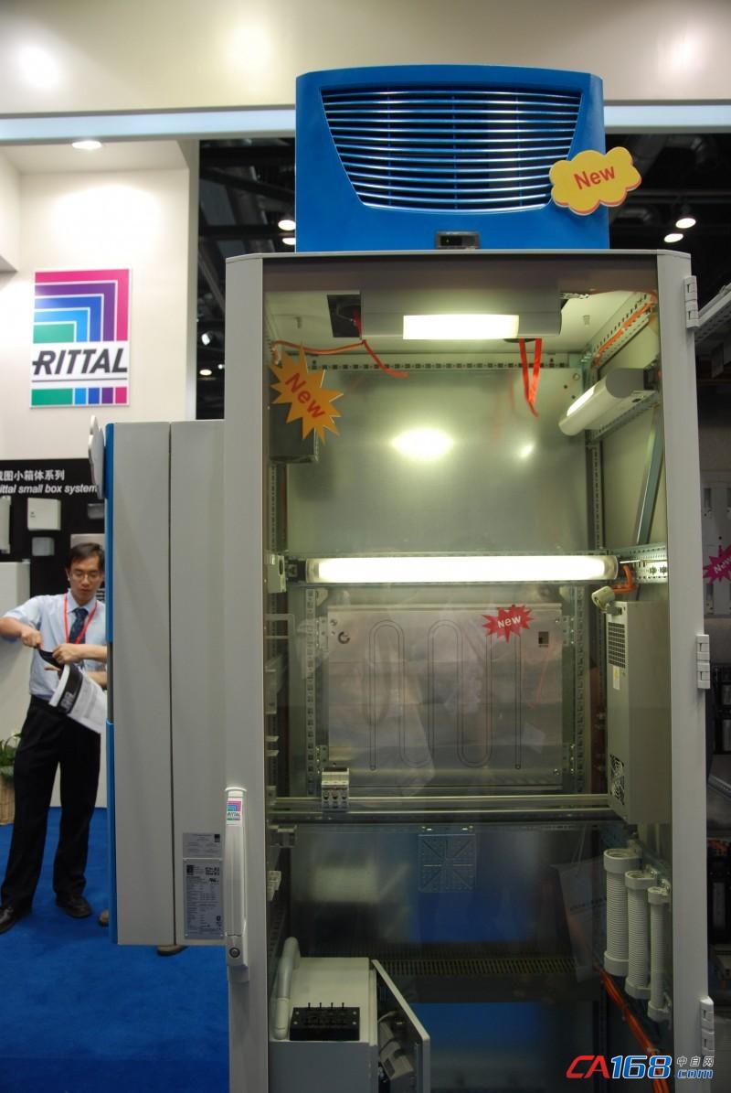 威图展出节能环保新机柜空调