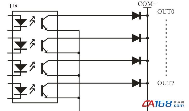 plc输入口光耦电路