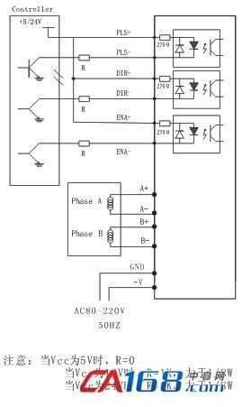 过流(电流过大或电压过小)故障指示灯alarm灯亮,请检查电机接线及其他