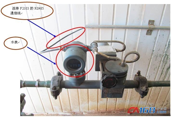 连接F2103的RS485通信线