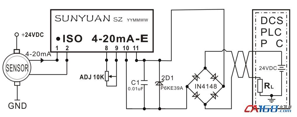 无源信号隔离器隔离放大器常用电路