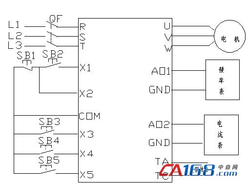 采用变频器软启动和无极调速功能对原来控制系统进行
