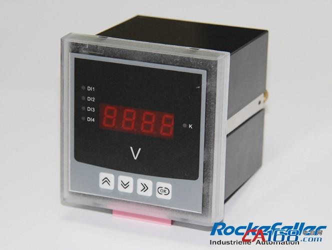 """JDR系列可编程数显表具备多种扩展功能的输入输出方式可供选择:1路通讯输出(RS485通讯接口采用Modbus-RTU协议,可满足通讯联网管理的需要);2路电能脉冲输出(可实现电能计量等功能);3路模拟量输出(4-20mA模拟量输出可与任意测量的电参量相对应,满足DCS等接口要求);4路开关量输入(光耦隔离输入)和3路继电器输出(可实现本地或远程的开关信号监测和控制输出功能:""""遥信""""和""""遥控""""功能);采用高亮度LED显示界面,通过面板按键来实现参数设置和"""