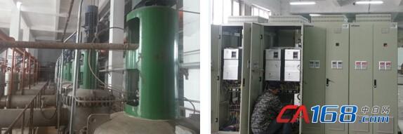 合康变频为北方药业整条生产线安装了20套变频控制一体柜,柜内共配置85台HID300A系列变频器及其自主研发的输出电抗器,主要用于发酵车间、提取车间、压力车间和循环水车间,功率从5.5kW到55kW不等,现场控制智能、方便。部分设备还配备了操作台,可实现远程起停、远程电位器调节频率、远程故障复位、远程紧急停车等功能,便于人工操作和管理,提高生产效率。 在生物制药过程中,合适的培养性、PH值、温度、空气、水量等条件都影响着菌种的产量和品质。合康变频HID300A系列变频器内置优异的PLC控制功能,最多设定1