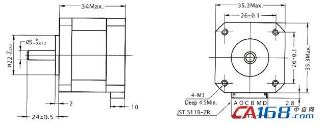 jmc-两相混合式步进电机-35