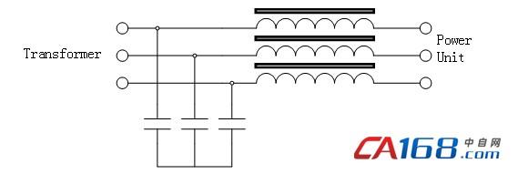 图四 电容和电抗器组成的滤波器