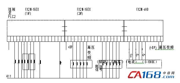 plc 系统部分信号接线原理图
