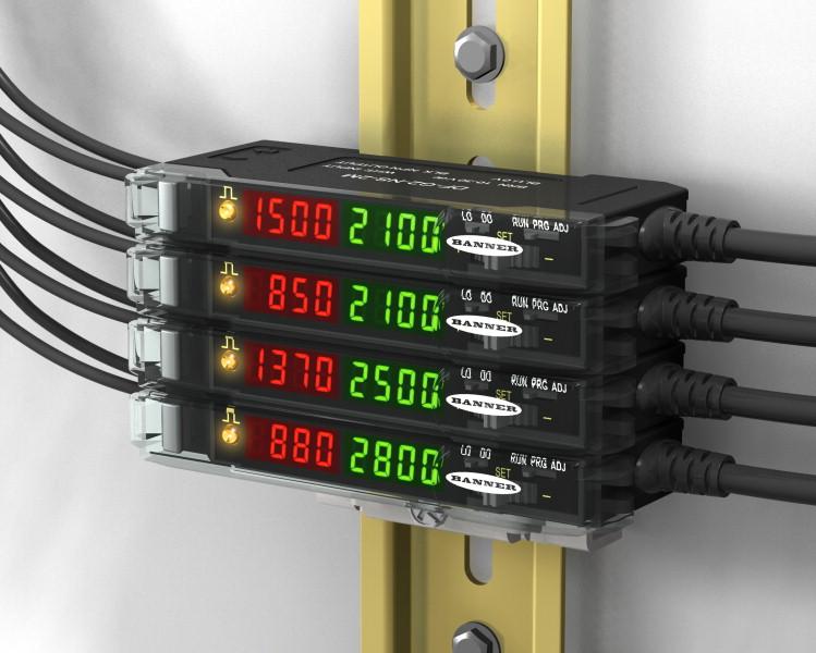 美国邦纳为性能优异的DF-G2和DF-G3光纤放大器增加了双开关输出和IO-Link通讯功能。集成IO-Link接口,传感器可以直接和IO-Link主站建立点到点的通讯,便于远程监控,示教和设置。第二路输出可以设置为报警输出,独立或互补输出,或是支持远程示教,主从同步,LED开关控制和输出选通的多功能输出。