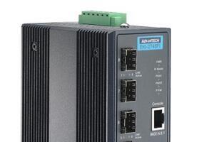 研华4G+4G SFP 端口宽温网管型工业以太网交换机