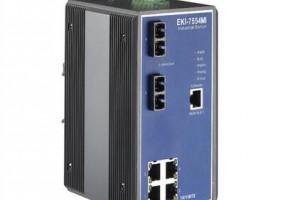研华4+2SC 光纤端口宽温网管型工业以太网交换机