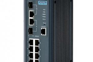 研华科技 8百兆电2千兆光网管型工业以太网交换机