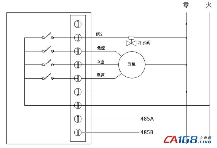 485聯網型房間溫控器接線圖