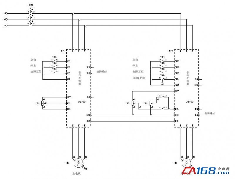 2)方案优点: 利用多功能模拟量输出可以直接监视电机运行电流,监视主机负荷.无须另加电流互感器、PLC,降低系统成本。具有灵活的频率源叠加方式,辅助频率源可以相对主频率源或**频率调整;载波频率调节范围宽,降低了电机噪音,改善了工人的工作环境。电路板上采用石材专用石磨工艺处理,有强效的防潮防腐能力,使变频器在矿山潮湿、粉尘多的恶劣环境下仍能稳定运行。负载控制平稳,精确, 能根据切割面的变化,及时调整移动速度,系统波动小。 四、小结 普传PI500系列变频器,在原有绳锯机控制系统基础上,省略了电流互感器和
