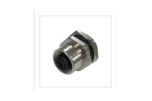 法兰插座连接�y道器-M12孔座(F)