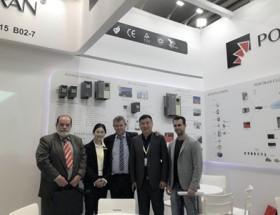 2019德国汉诺威工业博览会普传科技变频器闪耀光芒