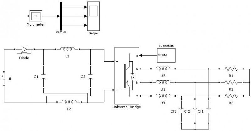 基于matlab的三相z源逆变器最大升压spwm仿真研究