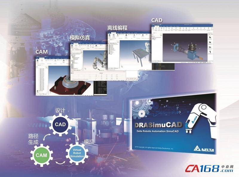 台达机器人模拟整合平台DRASimuCAD 助力实现虚实结合效益